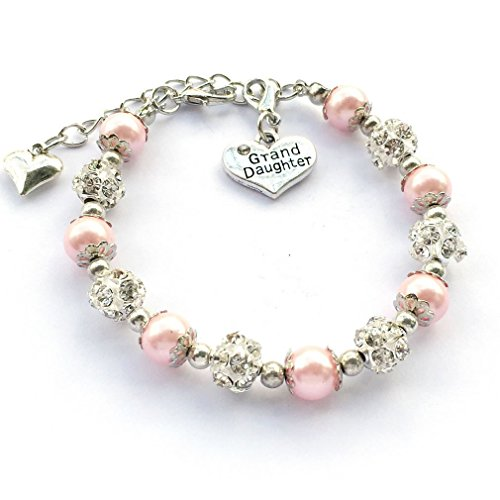 DOLON Pink Color Gift for Granddaughter Bracelet Jewelry