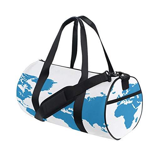 Bolsas de lona para niños Patrón de mapa del mundo de color ...
