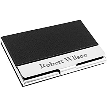 Amazon business card holder free engraving business card personalized leather business card case stainless steel credit card holder free engraving reheart Images