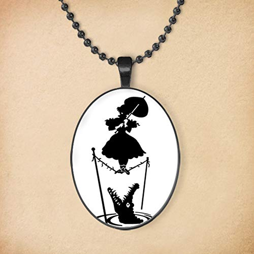 Disney's Haunted Mansion Silhouette Oval Pendant ()
