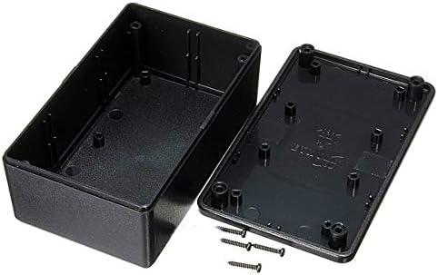 SISHUINIANHA Caja de Proyecto de Caja electrónica de plástico ABS Resistente al Agua Negro 103x64x40mm Conector eléctrico: Amazon.es: Hogar