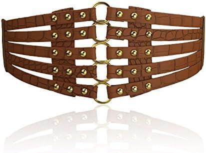 NEW Arrival Women Waist Belt Hollow Rivets PU Leather Strap For Womens Slim Waistband Female Ladies Apparel Ac