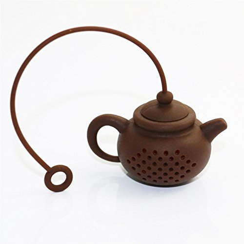 Funnytoday365 Creative Silicone Tea Bag Tea Pot Shape Tea Filter Infusers Safe Clean 1Pcs by FunnyToday365 (Image #2)
