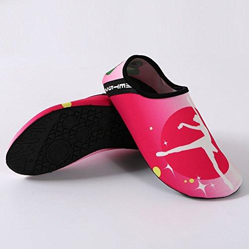 Scarpe Da Donna Acqua Equick Quick-dry Sport Respiratore Pelle Scarpe A Piedi Nudi Antiscivolo Calzini Multifunzione Yoga Esercizio 1rose Rosso