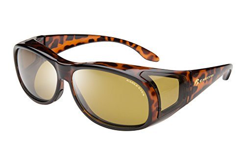 Eagle Eyes FitOns Polarized Sunglasses - Tortoise Shell - Lenses Oakley Progressive