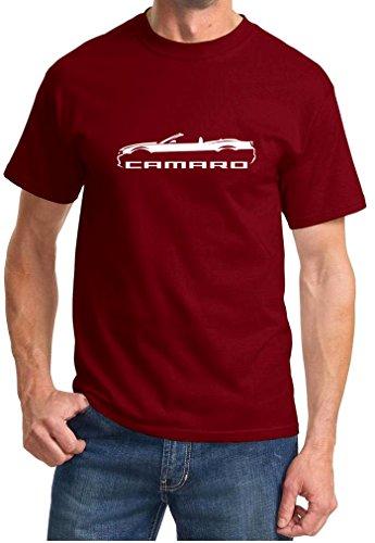 2010-15 Camaro Convertible Classic Design Tshirt 2XL maroon