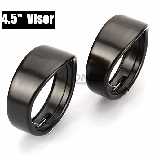 Black 4.5 inch Auxiliary Lamp Visor street glide Passing Lamp Trim Ring Harley Motorcycle Accessories 4 1/2 inch Visor ()