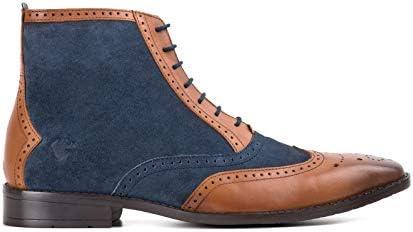 42b08a1fc67 Mens Samuel Tan Leather Navy Suede Boot - 11 UK: Amazon.com: Premium ...
