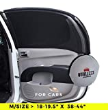 M Car Window Shade Protection for Baby. Backseat Sun Shades Cover Full Contoured Windows Up to 19.5