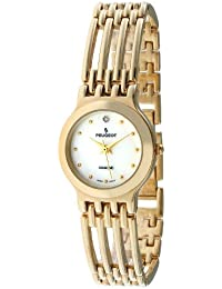 Women's 771G Gold-Tone Genuine Diamond Bracelet Watch