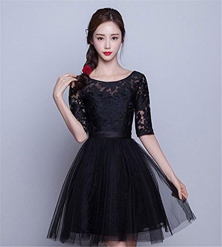 Schwarz Linie Drasawee Kleid A Damen PSPqIY