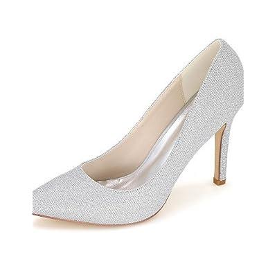 Ggx femme Chaussures Paillettes Printemps été automne Bout Pointu talons  Mariage fête   Soir robe 7bf5ba843b5f
