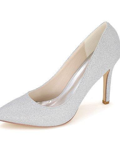 GGX/ Damen-High Heels-Hochzeit / Kleid / Party & Festivität-Glanz-Stöckelabsatz-Spitzschuh-Schwarz / Blau / Rot / Silber / Gold 3in-3 3/4in-silver