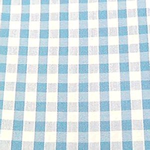 Light Blue Gingham 1/4u0026quot; Check Cotton Fabric ...