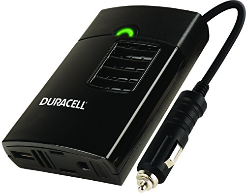 Duracell DRINVP150 Portable Power Inverter, 150 Watt, Black