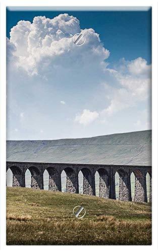 (Single-Gang Blank Wall Plate Cover - Ribblehead Viaduct Railroad Tracks Landscape)