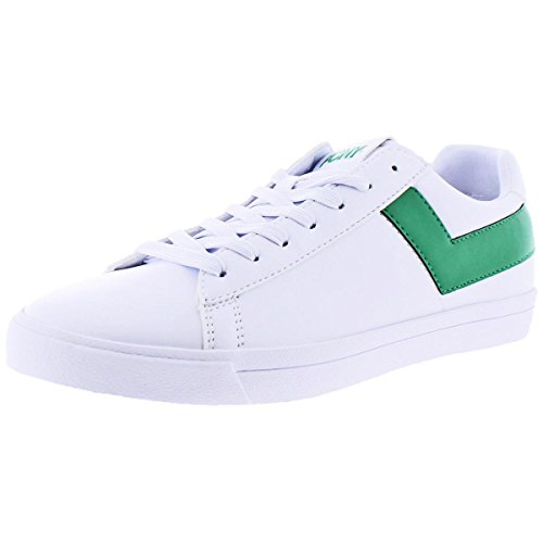 (Pony Mens TOP Star LO CORE UL, White/Kelly Green, 9.5 D(M) US)