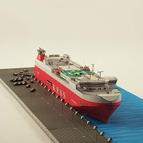 ELVVT 1:400スチーマーエルベハイウェイバハマ汽船モデル手作りの高難易度の軍事ファン子供大人用DIYペーパーアート模型玩具誕生日の装飾のギフト