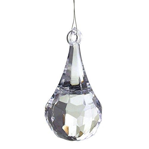 Acrylic Crystal Raindrop Chandelier Drops, Clear, 2-1/2-Inch, - Crystal 2.5 Inch
