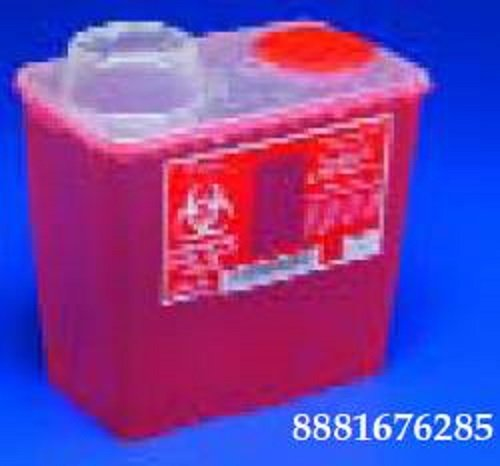 (8 Quart Red Chimney Top Sharps Container, 1 ea)
