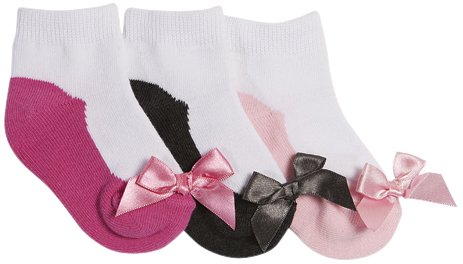 Tic Tac Toe Baby Girls' Pretty Shoes Graphic Socks