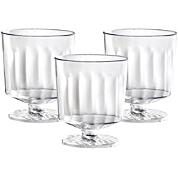 Party Essentials N223021 20 Count 1 Piece Hard Plastic Mini Wine Taster Glasses, 2 oz, Clear