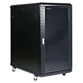 StarTech.com 22U Server Rack Cabinet on Wheels - 36 inch Adjustable Depth - Portable Network Equipment Enclosure (RK2236BKF) (B000IZ95CQ) | Amazon price tracker / tracking, Amazon price history charts, Amazon price watches, Amazon price drop alerts