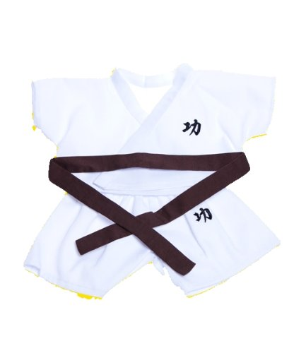 Karate Outfit with 6 Colored Belts Fits Most 8