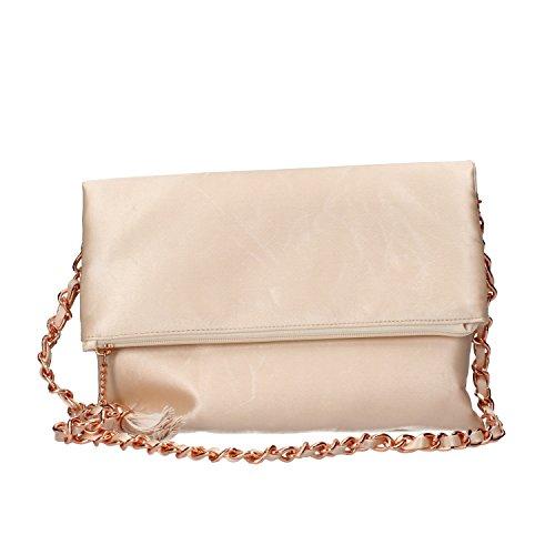VIRGINIA'S SECRET bolso de embrague bolso de mano pequeña mujer negro Fucsia Rosa satén Rosa