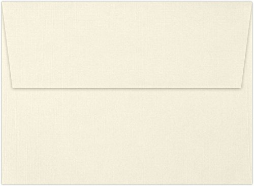 A7 Invitation Envelopes w/Peel & Press (5 1/4 x 7 1/4)- Natural Linen (500 Qty) | Perfect for Invitations, Announcements, Sending Cards, 5x7 Photos | 4880-NLI-500 by Envelopes.com