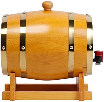 Barril de Roble 1,5 litros Barril de Madera de Roble, Barril de Vino, Barril Dispensador de Vino de Ron Tequila Whisky de Madera Vintage, traje for casa, bar, fiesta y banquete Vino, cerveza, sidra, w