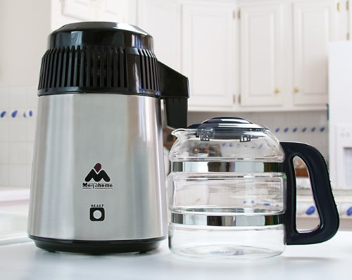 MegaHome Countertop Water Distiller Stainless Glass Collection