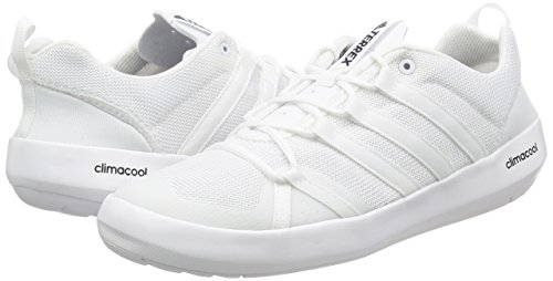 Adidas Terrex Cc Boat, Chaussures de Trail Homme, Blanc Cassé (Ftwbla/Ftwbla/Negbas), 45 EU