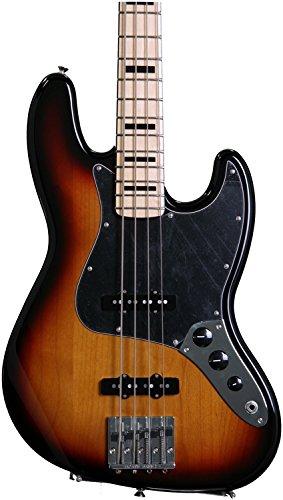 Fender Geddy Lee Signature Jazz Bass Guitar, Maple Fretboard, 3 Tone (Fender Front Bolt)