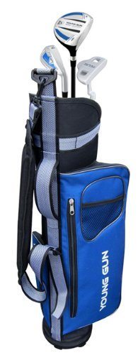 Young Gun EAGLE BLUE Junior golf club set & bag for kids Ages 6-8 RH