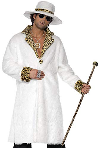 Faux Fur Pimp Suit Adult Costume White (Pimp Costume White)