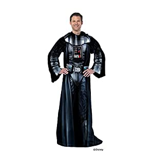 """Disney's Star Wars, """"Being Darth Vader"""" Adult Comfy Throw Blanket with Sleeves, 48"""" x 71"""", Multi Color"""