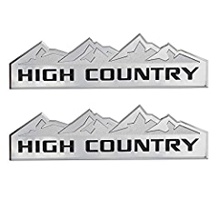 Yuauto HIGH COUNTRY Car Emblem Replacement for Badges Door Tailgate 3D Nameplate for Chevrolet Silverado 1500 2500HD Sierra 3500HD