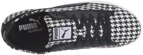 Puma Glyde Herringbone Lo Wns 354376, Damen Sportive Sneakers Schwarz (black-white 01)