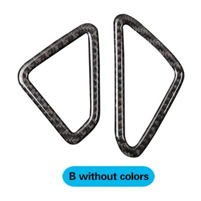 B without colors Car Styling for BMW f15 Carbon Fiber Car AC Outlet Trim Refit Air Outlet Frame Decoration Stickers X5 20142017 Car Accessories  (color Name  A with colors)