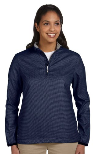 Ashworth Ladies Houndstooth Half-Zip Jacket - NAVY - XX-Large
