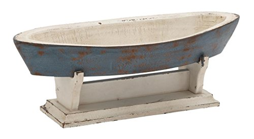 Deco 79 Wood Boat Bowl, 22 by (Painted Wood Bowl)