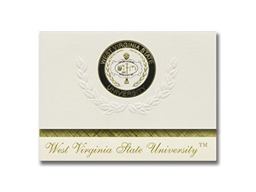 (Signature Announcements West Virginia State University Graduation Announcements, Platinum style, Elite Pack 20 with West Virginia State University Seal Foil)