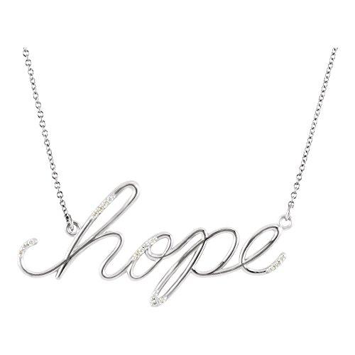 - 14K White Gold 0.08 CTW Diamond Hope 16