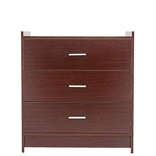 (Adumly 3 Wood Drawers Chest Storage Dresser Cabinet for Bedroom Color)