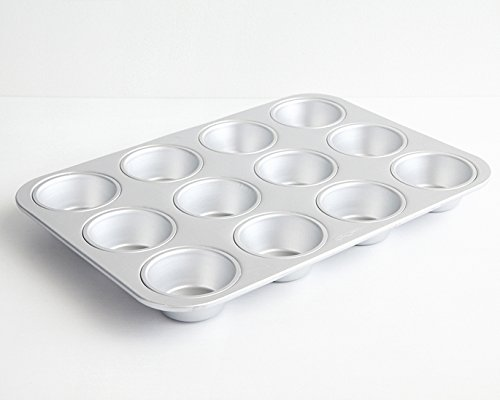 Standard Muffin Pan 12 Cup Cupcake Quiche Pan Aluminum Stainless Steel