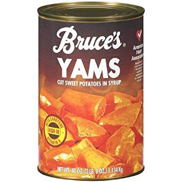 Bruce's Yams, Sweet Potatoes in Syrup, 40 oz can (4 pack) - Bruces Sweet Potato
