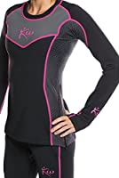 Kutting Weight Women's Neoprene Weight Loss Sauna Shirt Long Sleeve