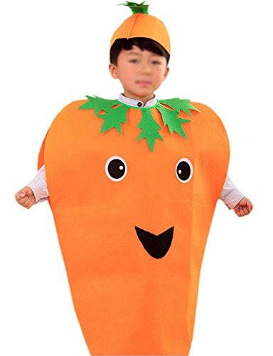 Fat Boy Halloween Costumes (ANDES Child Party Clothing Carrot Costume Suit for Holidy (Carrot))