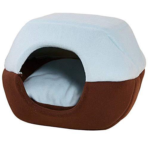 Yiuu 2 en 1 Casa y Sofá para Mascotas, Lavable Plegable Prueba de Viento y Transpirable Nido Cueva Cama de Perro Gato Puppy...